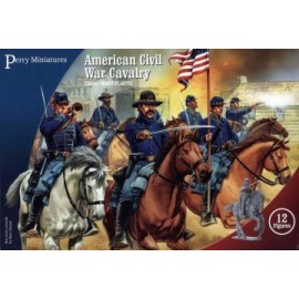 American Civil War Cavalry (12 Plastic Figures)