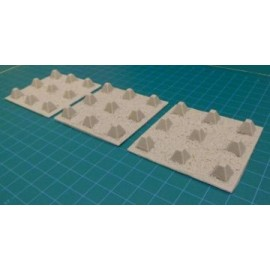 15mm British WWII Anti Tank Obstacles (Pimples)