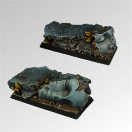 Ancient Ruins 25mm / 50mm square bases (2)
