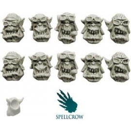 Ork Storm Flying Squadron Heads version 2