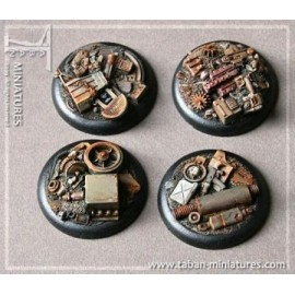 Machine Scrapyard Round 40mm Bases (Straight Edges)