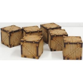6 Small Wooden Containers