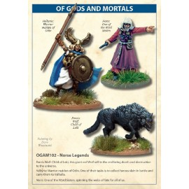 Norse Legends Fenris Wolf, Valkyrie And Norn