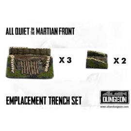 Artillery Emplacement Trench Set (5 Resin Trench pieces)