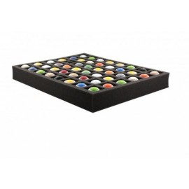 50 mm full-size Figure Foam Tray with base and 48 quadratic slots