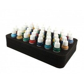 50mm (2 inch) half-size Figure Foam Tray with base - 37 round compartments