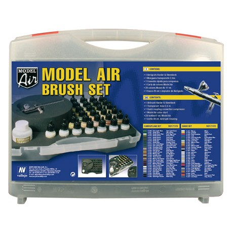 model air military colours airbrush set model air. Black Bedroom Furniture Sets. Home Design Ideas