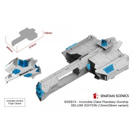 Spartan Scenics - Invincible Class PlanetaryGunship - Deluxe Edition(15mm/28mm variant)