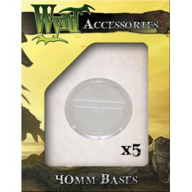 Clear Round Lipped Bases - 40mm