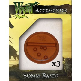 Brown Round Lipped Translucent Bases - 50mm