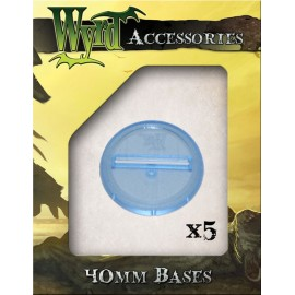 Blue Translucent Bases – 40mm