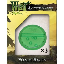Green Translucent Bases – 50mm