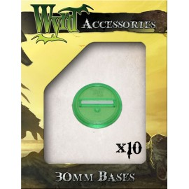 Green Translucent Bases – 30mm