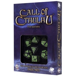 Call of Cthulhu 7th edition Black-green dice set