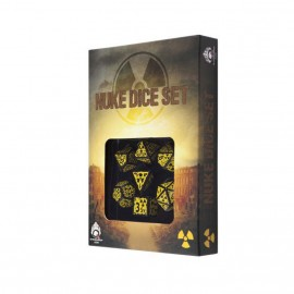 Nuke Revised Black-yellow dice set (7)