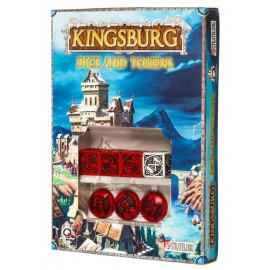 Red & black Kingsburg Dice and Tokens Set