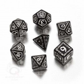 Black & White Runic Dice (7)