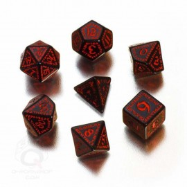 Black & Red Runic Dice (7)