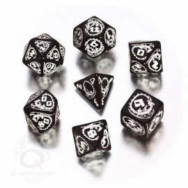 Black & White Dragons Dice (7)