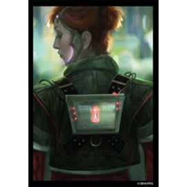Deep Red Android Netrunner Art Sleeves
