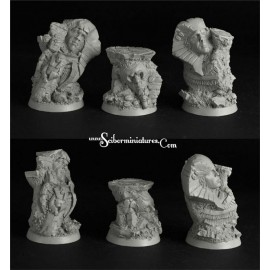 Egyptian Ruins 32mm Round Bases Set 2