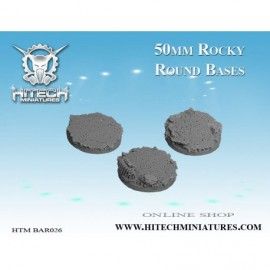 50mm Rocky Round Bases