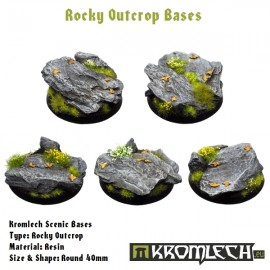 Rocky Outcrop Bases - Round 40mm