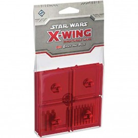 Star Wars X-Wing Red Coloured Bases and Pegs