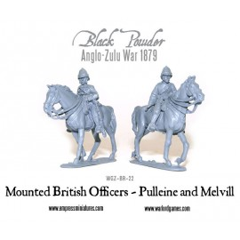 Mounted British Officers - Pulleine & Melvill