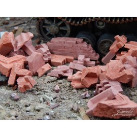 Brick Rubble, Large, Red (200g)