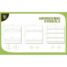 Sloping Stripes Stencils Pattern 1