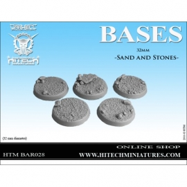 32mm Sand and Stones Bases