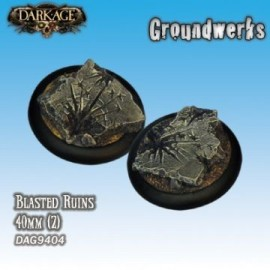 Groundwerks Base Inserts - 40mm Blasted Ruins