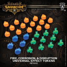 Universal Effect Tokens - Fire - Corrosion - Disruption