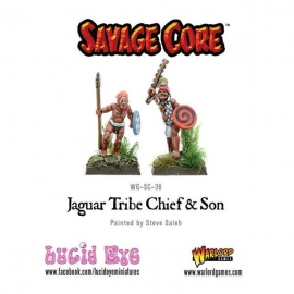 Jaguar Tribe Chief & Son (2 figs)