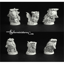 Sci-Fi Elven 25mm Round Bases Set 1