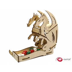e-Raptor Dice Tower Dragon Wooden NEW!