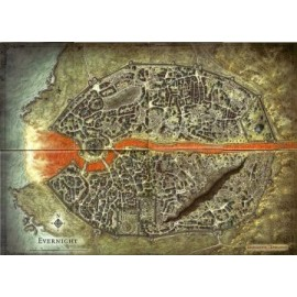 D&D 4e: Evernight Campaign Map Vinyl Game Mat 30x42