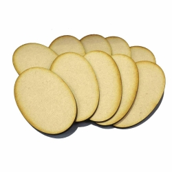 90mm x 52mm Oval Bases (10)