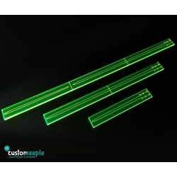 Space Fight, Fire Range Templates - Yellow Fluor