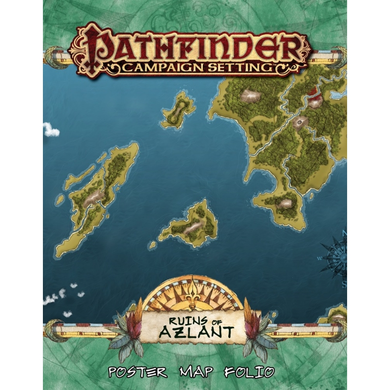 Pathfinder Campaign Setting: Ruins of Azlant Poster Map Folio - Wayland  Games