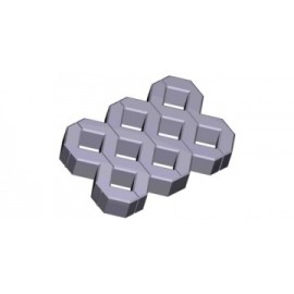 1:35 grass pavers - grey (50 pcs.)