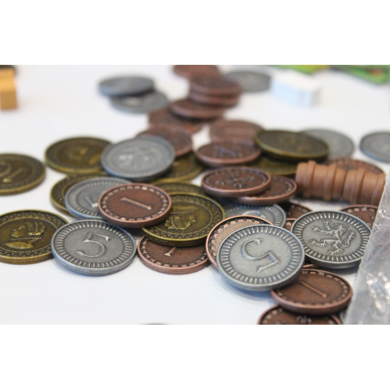 Clans of Caledonia: Set of Metal Coins - Board Games - Home