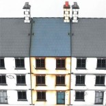 Pre-painted Three Storey Mid Terrace