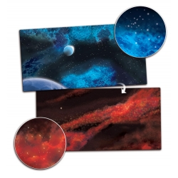 Gaming Mat - Crimson Gas Giant / Frozen Star System