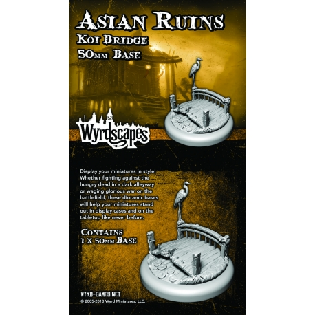 Wyrdscapes Asian Ruins 50mm Base I - Bridge