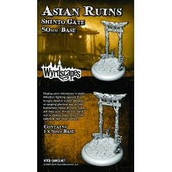 Wyrdscapes Asian Ruins 50mm Base III - Shinto Gate