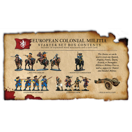 European Colonial Militia Nationality Set