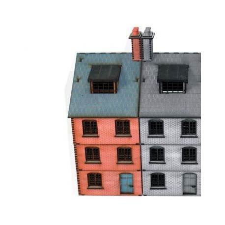 Pre-painted Victorian End Terrace House Type 1