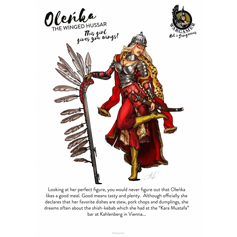 Winged Avatars Of Memory And Return >> Olenka The Winged Hussar Hot Dangerous Specialist Miniatures